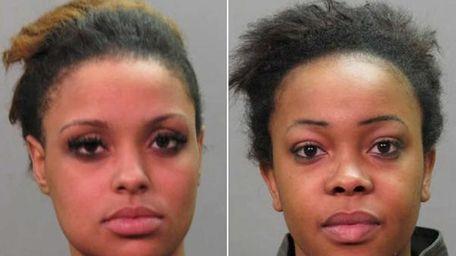 Akyra Hendrickson, left, 20, of Brooklyn, and Shenia