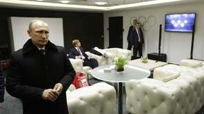 Russian President Vladimir Putin waits in the presidential