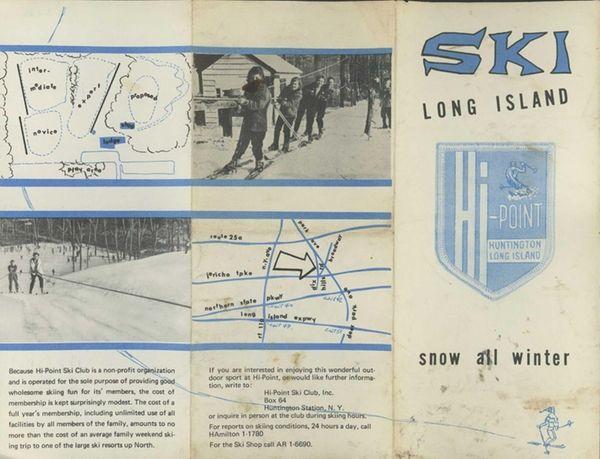 A brochure for the Hi-Point Ski Club created