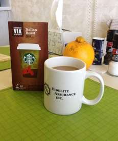Take Starbucks VIA instant coffee with you on