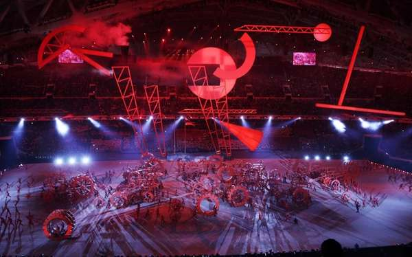Artists perform during the opening ceremony of the