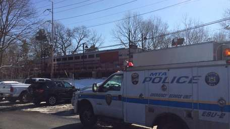 MTA Police at the LIRR station in Syosset