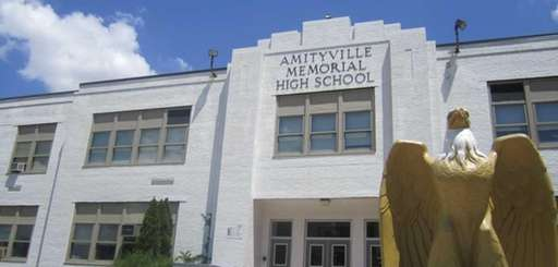Amityville Memorial High School is pictured on June