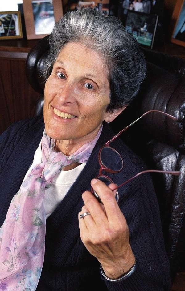 Poet Maxine Kumin poses for a photo in