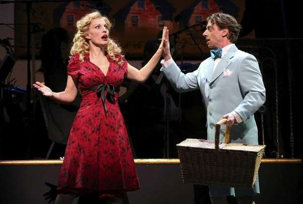 Rachel York and Christian Borle in