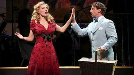 Rachel York and Christian Borle in