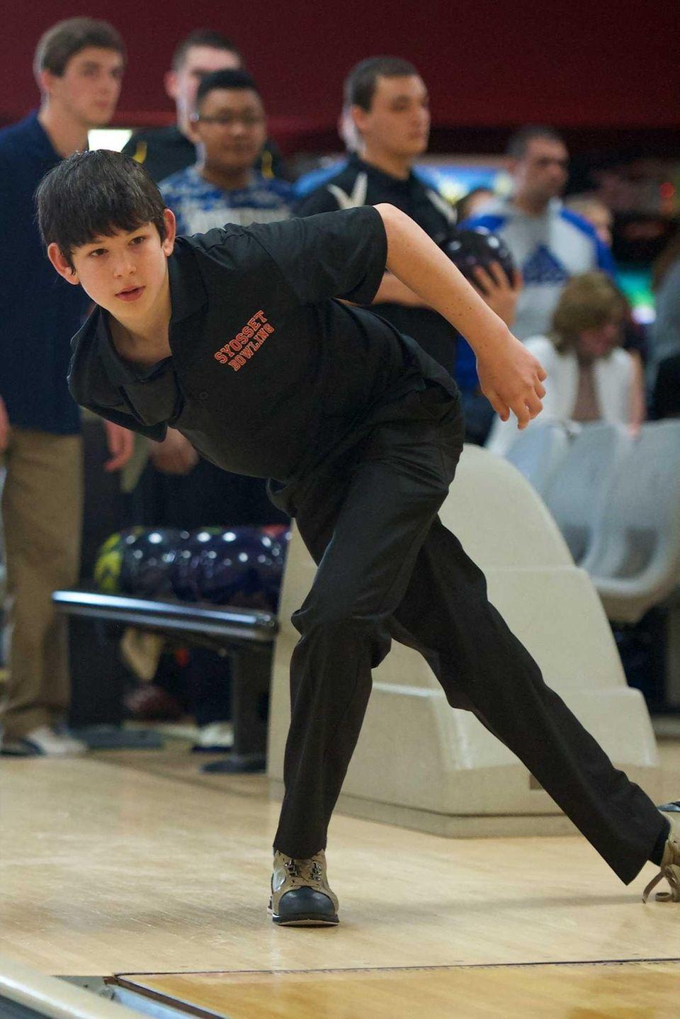 Syosset's Ryan Graham bowls at Garden City Lanes