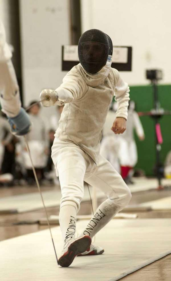 Ward Melville's Mike Antipas competes in the Suffolk