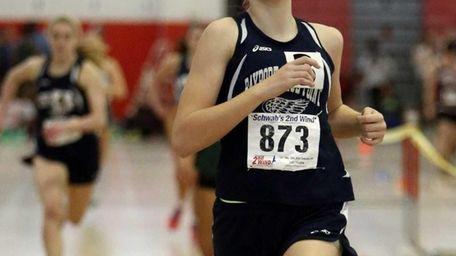 Bayport-Blue Point's Kathleen CIbuls wins the girls 600m