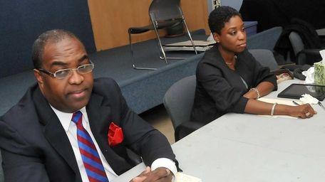 Legislative candidates Pepitz Blanchard and Siela Bynoe debate