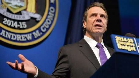 Gov. Andrew Cuomo presents his 2014-2015 state budget