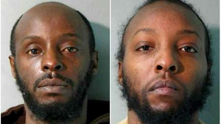 Left: Clive Meade, 41, of Hempstead, is facing