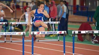 Danielle Corriea of Kellenberg runs in the 55-meter