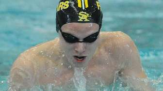 St. Anthony's junior Ben Howard surfaces during the