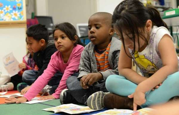 Pre-kindergarten students learning how to read in 2012.