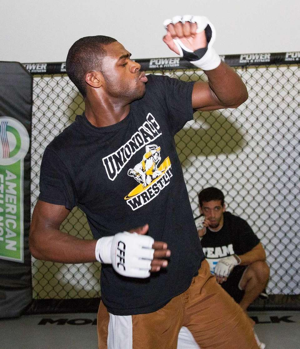 Uniondale's Aljamain Sterling during a training session at