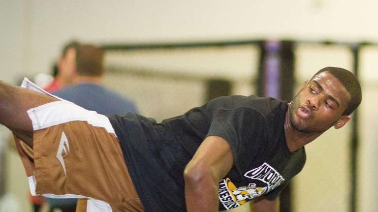 Uniondale's Aljamain Sterling during a training session Longo