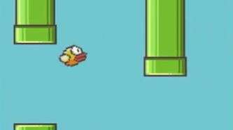 A screenshot of the mobile game Flappy Bird,