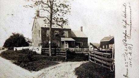 A postcard seen at the Walt Whitman Birthplace,