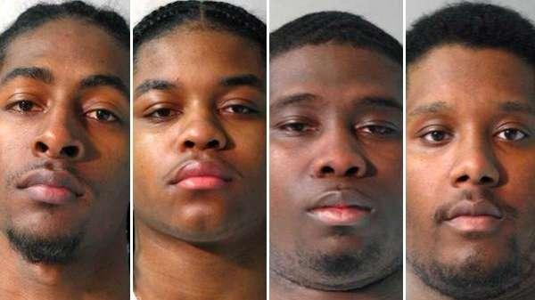 From left to right: Shaquille Vickers, 20, of