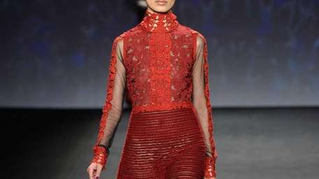 At the Vivienne Tam fashion show during Mercedes-Benz