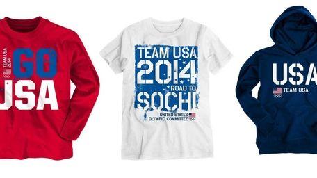 Aeropostale's new Team USA Olympic line of tees,