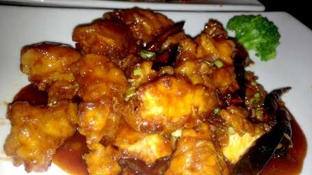 General Tso's chicken is a specialty at New