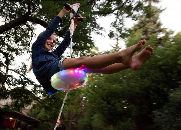 The Slackers Night Riderz Zipline and Flying Saucer