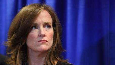 Nassau District Attorney Kathleen Rice speaks in Mineola
