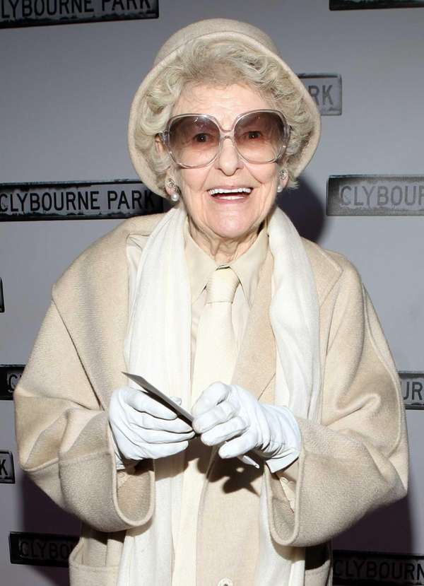 "Elaine Stritch attends the ""Clybourne Park"" Broadway opening"