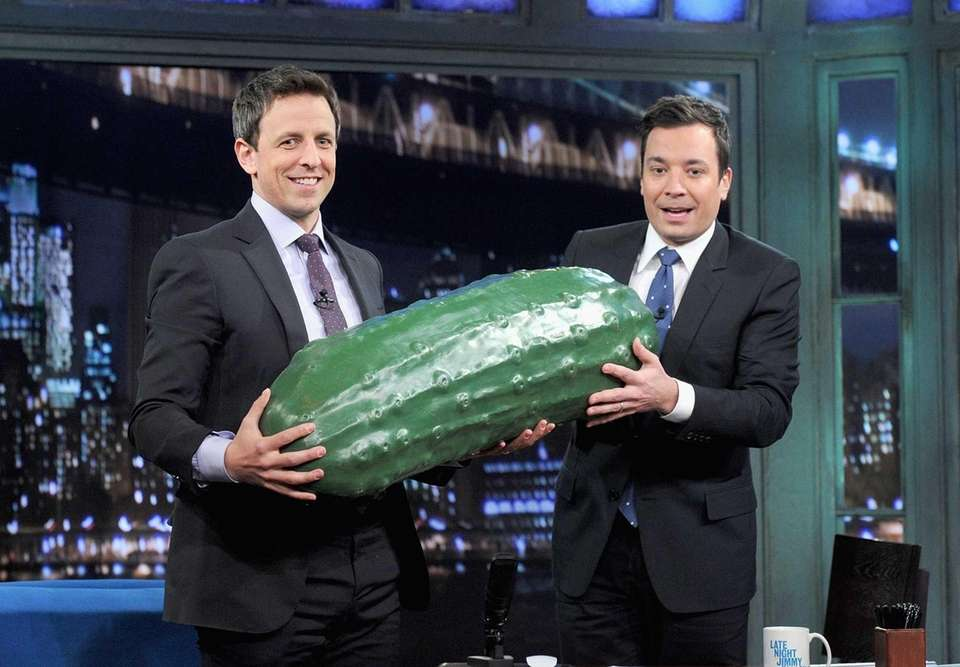 In January 2014, when Jimmy Fallon, right, went