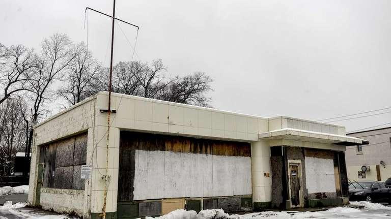 This abandoned gas station on Main Street in
