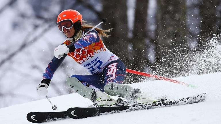 Julia Mancuso of the United States in action