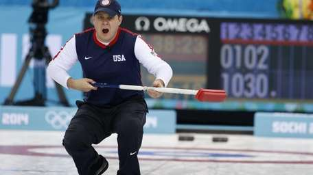 John Shuster, skip of the United States team,
