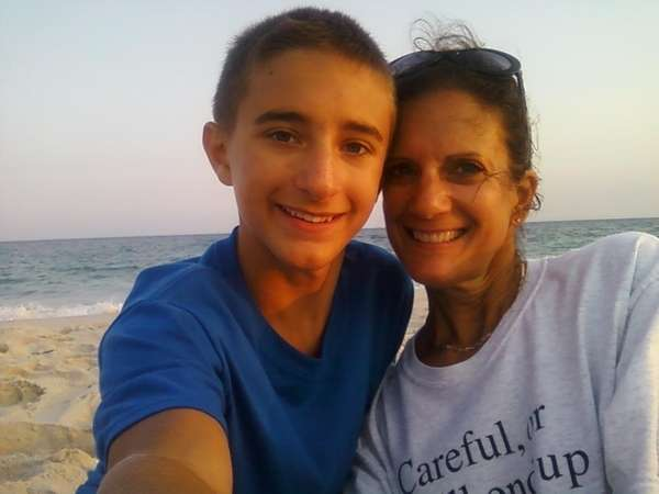Smithtown native Jennifer Paquette and her teenage son,