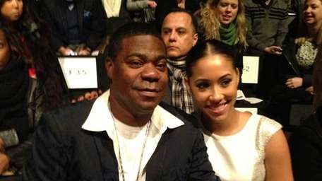 Comedian Tracy Morgan with his fiancée, Megan Wollover,