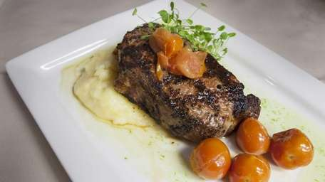 Chargrilled strip steak is an excellent choice at