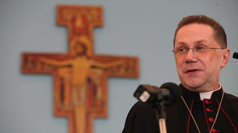 Bishop-elect Andrzej Jerzy Zglejszewski, 52, is introduced at