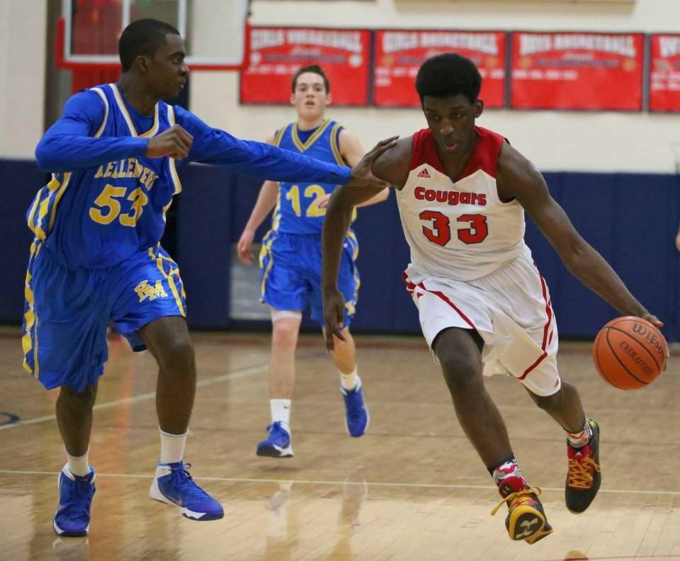 St. John the Baptist's Kyle Williams moves the