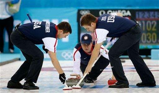 John Shuster, skip of the United States team,