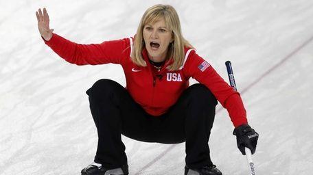 Erika Brown, skip of the United States team,