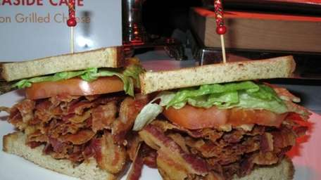 This bacon-lettuce-and-tomato sandwich created Monday, Feb. 10, 2014,
