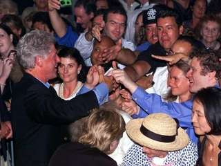 The Hamptons drew President Bill Clinton in the