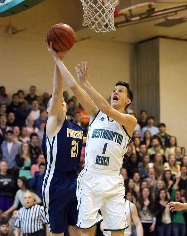Westhampton's Mike Frangeskos pulls up for the short
