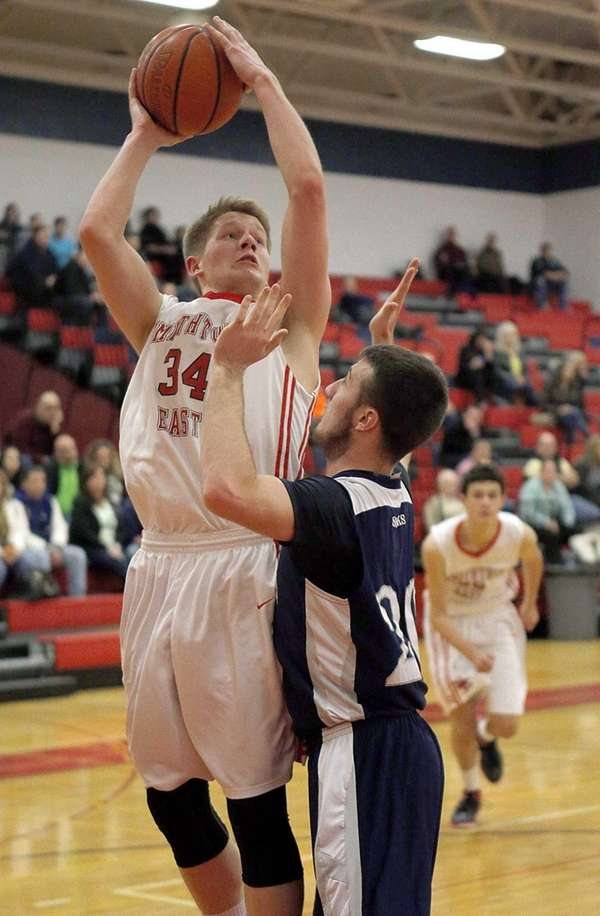 Smithtown East's Ryan Ingarozza shoots the jumper over