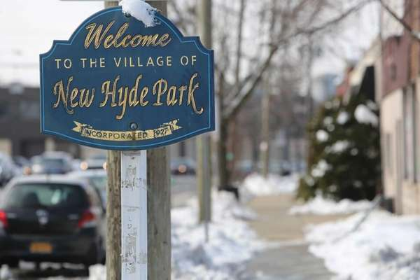 New Hyde Park had snow on Feb.