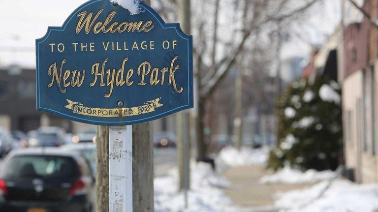 New Hyde Park had snow on Feb.