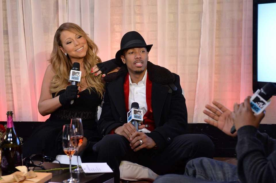 Mariah Carey and then husband Nick Cannon, attend
