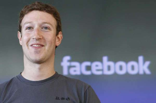 An undated photo of Mark Zuckerberg. On Tuesday,