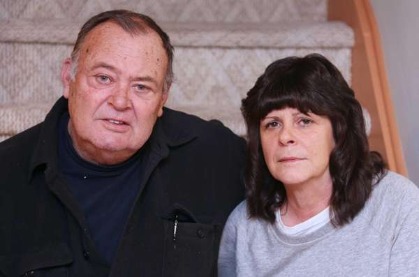 Cathy and John Fallon in the home that